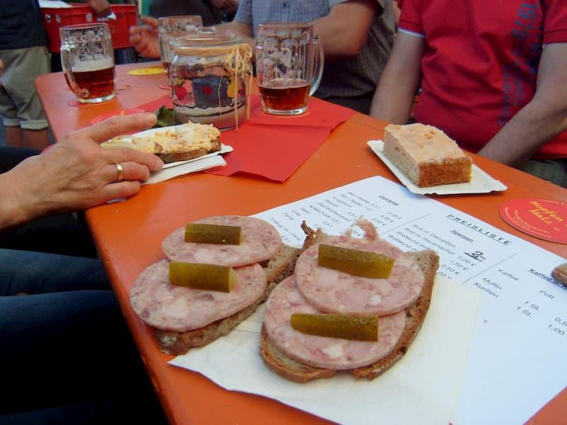 Ausflugsziele in Franken Essen und Trinken