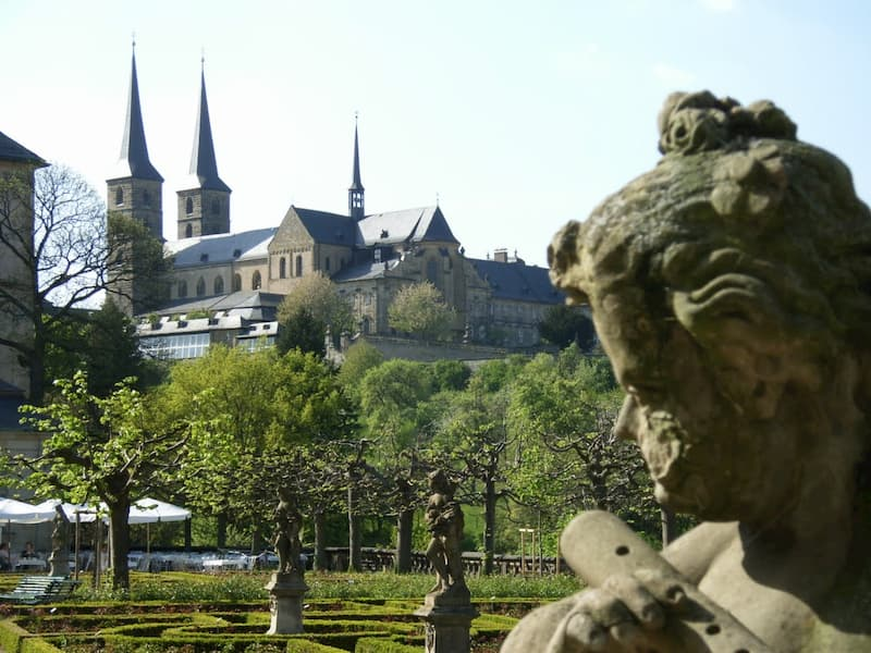 der Rosengarten in Bamberg als Ausflugsziel in Franken