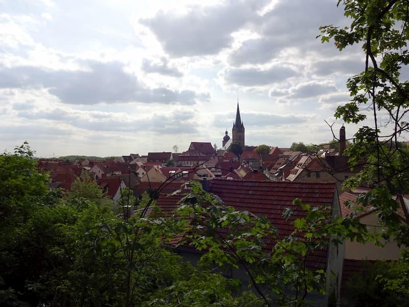 Ausflugsziele in Franken Aussicht über Zeil