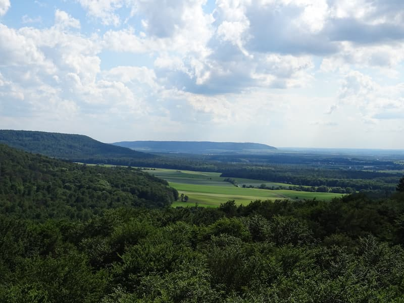 Baumwipfelpfad Steigerwald: Aussicht vom Turm nach Süden