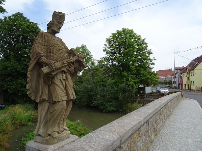 Ausflugsziele in Franken: Brücke in Obervolkach